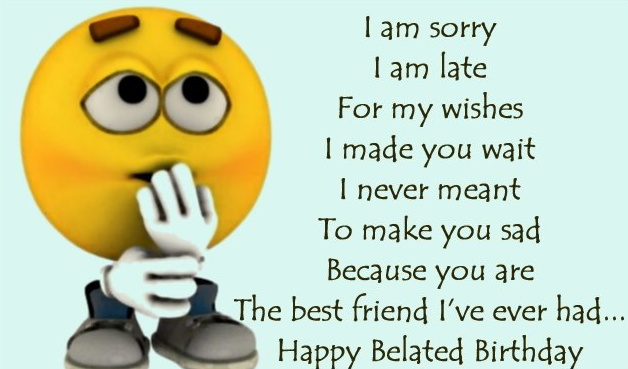 Happy Belated Birthday Wishes And Quotes   Wishes Choice