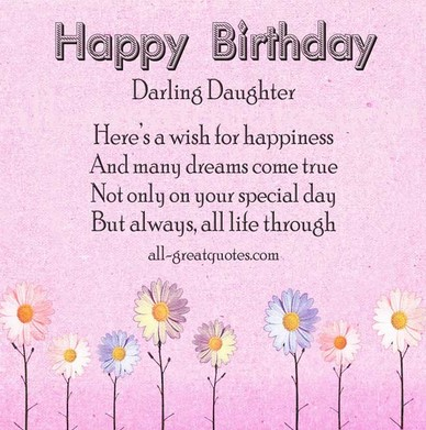 Birthday Wishes For Daughter From Mom