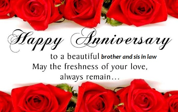Anniversary Wishes To Brother And Sister In Law - Wishes Choice