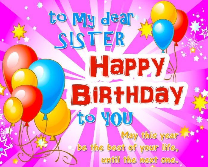 Happy Birthday Sister Birthday Wishes For Sister 2016 Wishes Choice