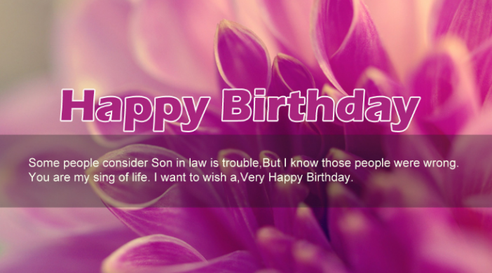 Birthday Wishes And Quotes For Son In Law