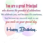 Best Birthday Wishes For Principal
