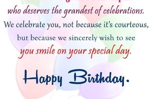 Best Birthday Wishes For Principal - Wishes Choice